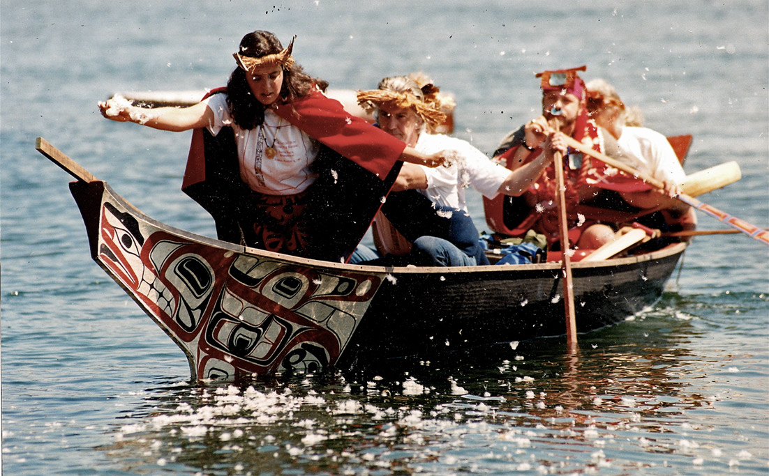 Tsuxs-Ne'x, Duane's second canoe